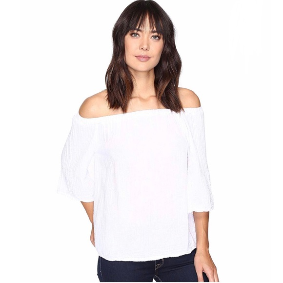 Michael Stars Tops - Michael Stars | double gauze off shoulder top